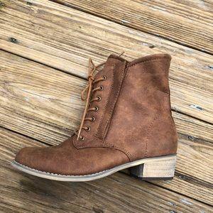 Aaminah Brown Short Boots. Never been worn.